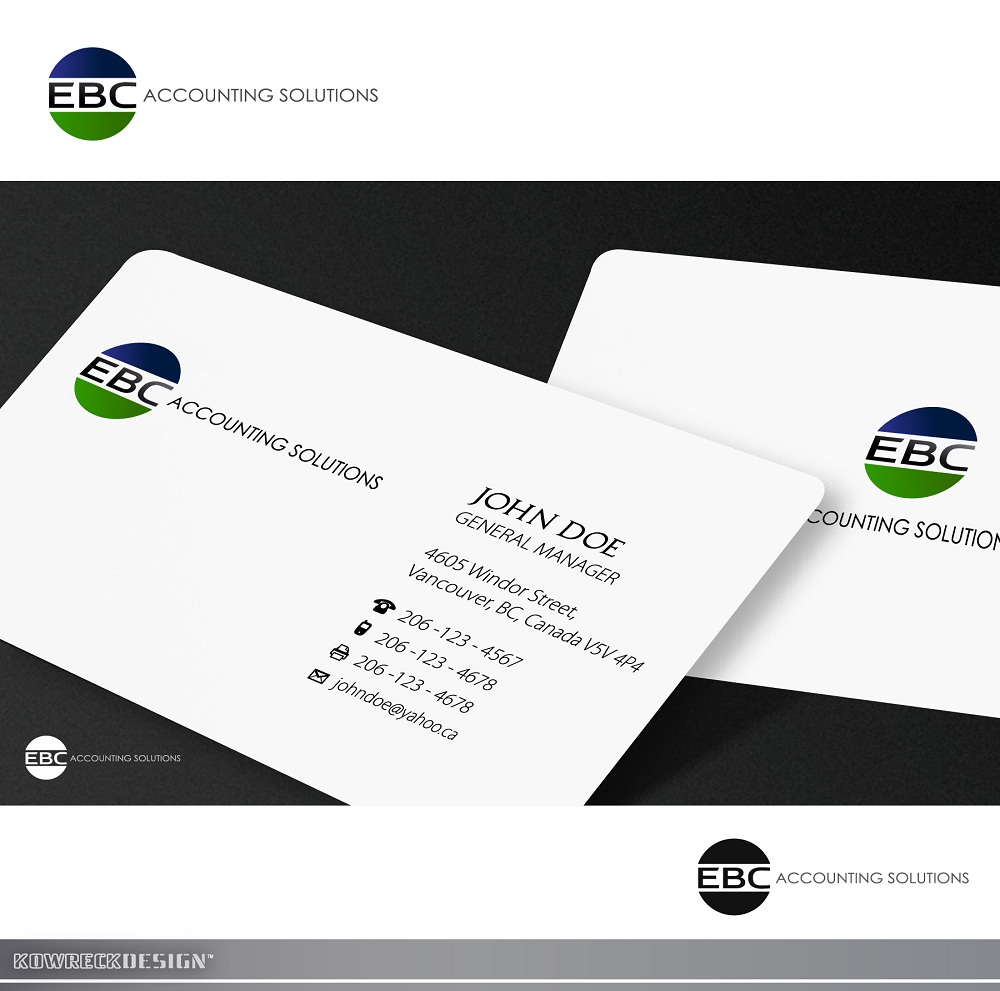 Logo Design by kowreck - Entry No. 148 in the Logo Design Contest New Logo Design for EBC Accounting Solutions.