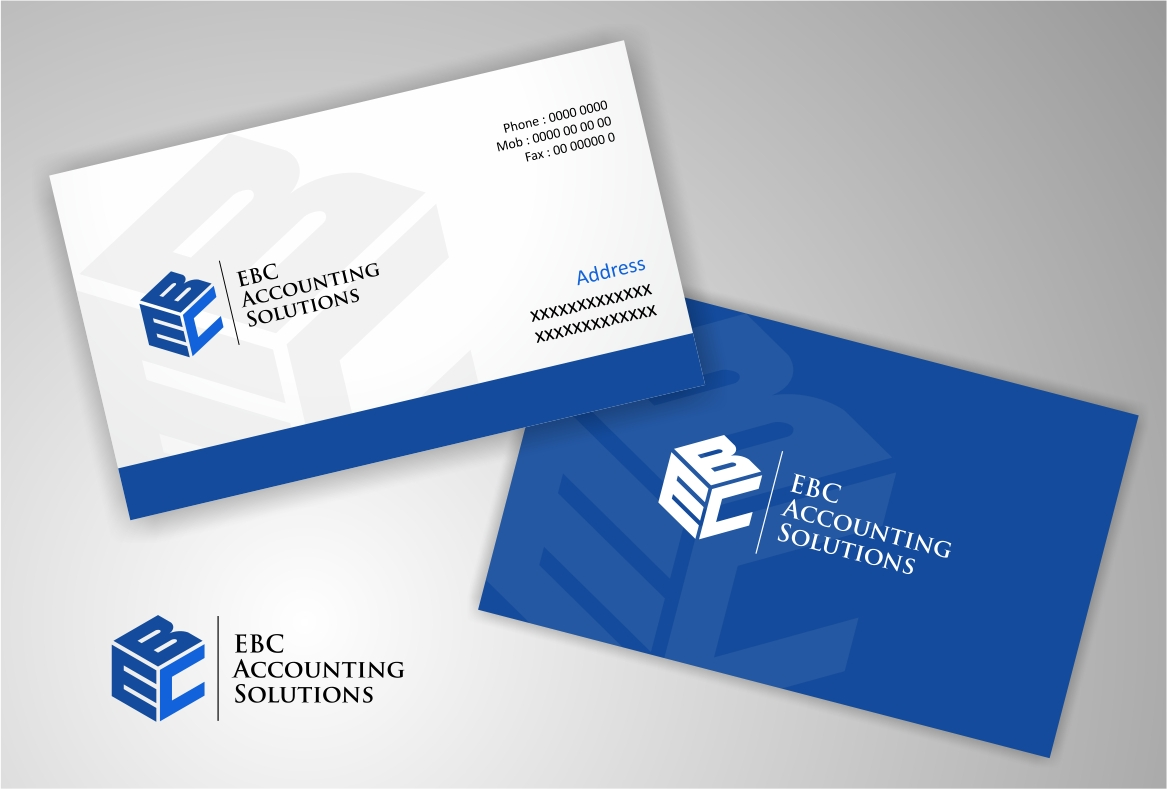 Logo Design by haidu - Entry No. 149 in the Logo Design Contest New Logo Design for EBC Accounting Solutions.