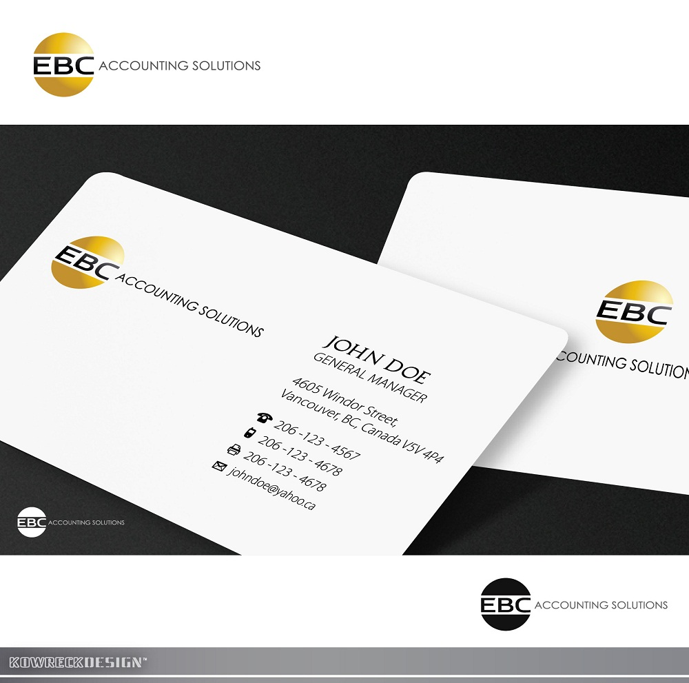 Logo Design by kowreck - Entry No. 151 in the Logo Design Contest New Logo Design for EBC Accounting Solutions.