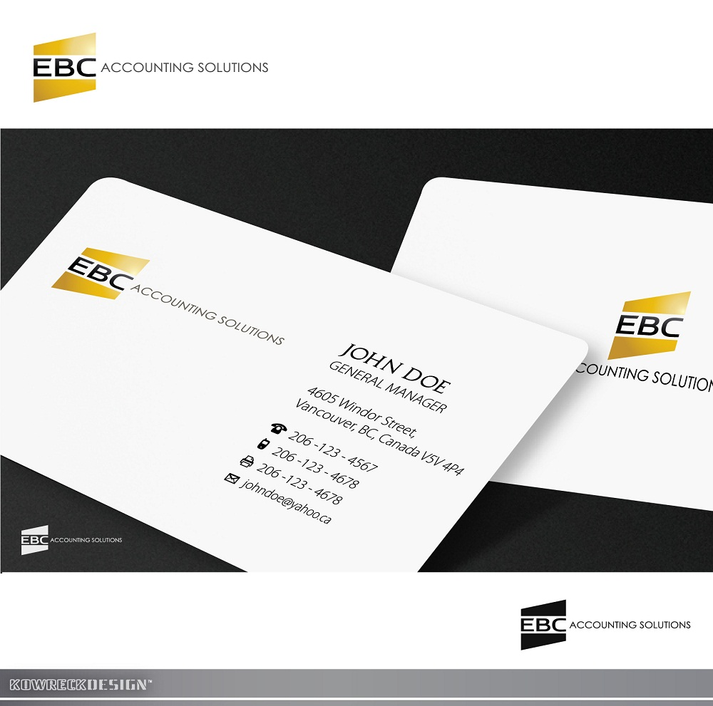 Logo Design by kowreck - Entry No. 158 in the Logo Design Contest New Logo Design for EBC Accounting Solutions.