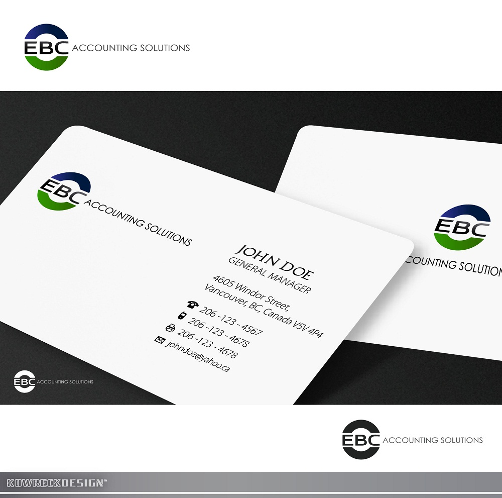 Logo Design by kowreck - Entry No. 161 in the Logo Design Contest New Logo Design for EBC Accounting Solutions.