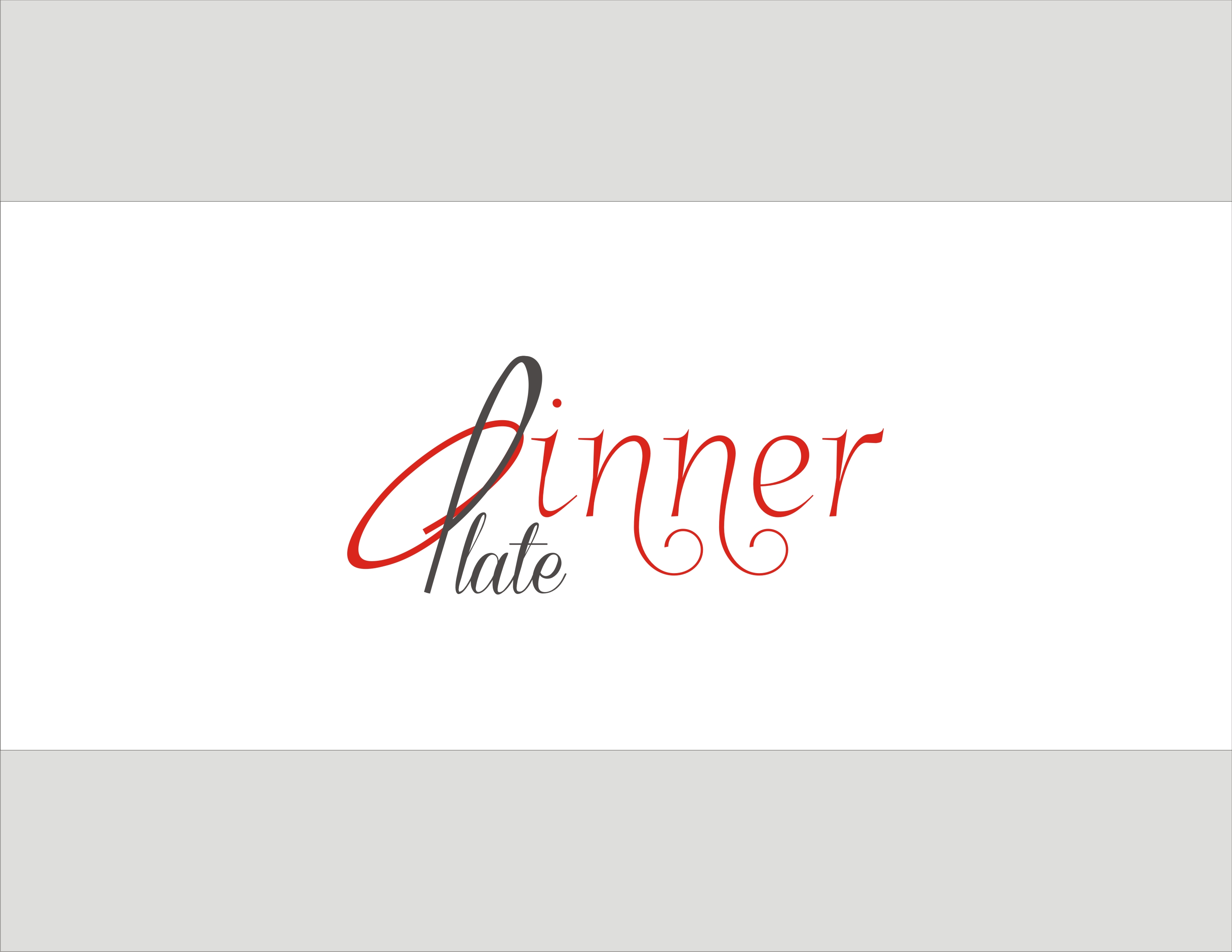 Logo Design by Sandip Kumar - Entry No. 103 in the Logo Design Contest Imaginative Logo Design for Dinner Plate.