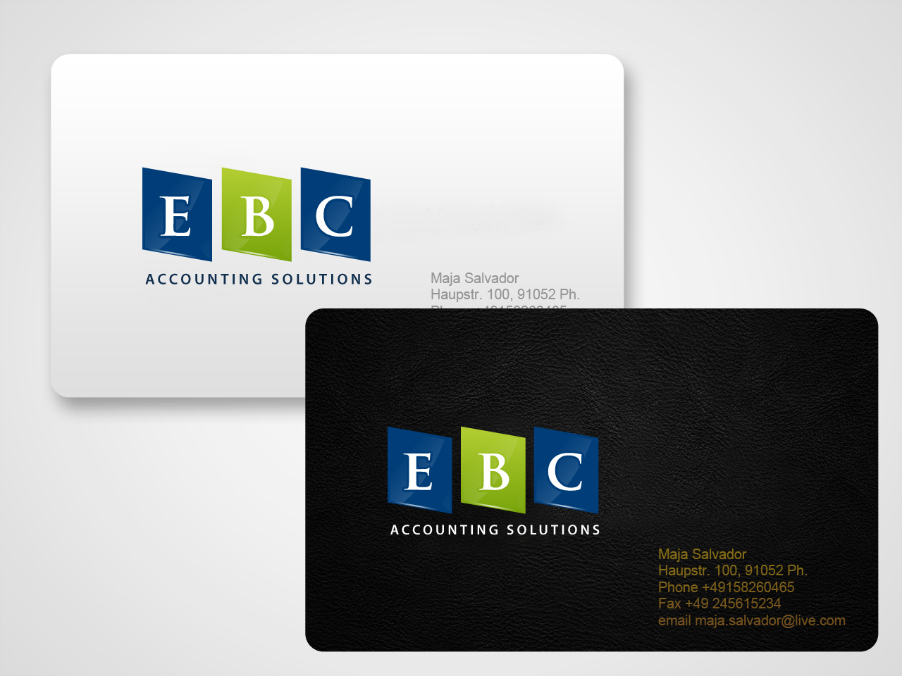 Logo Design by jpbituin - Entry No. 172 in the Logo Design Contest New Logo Design for EBC Accounting Solutions.