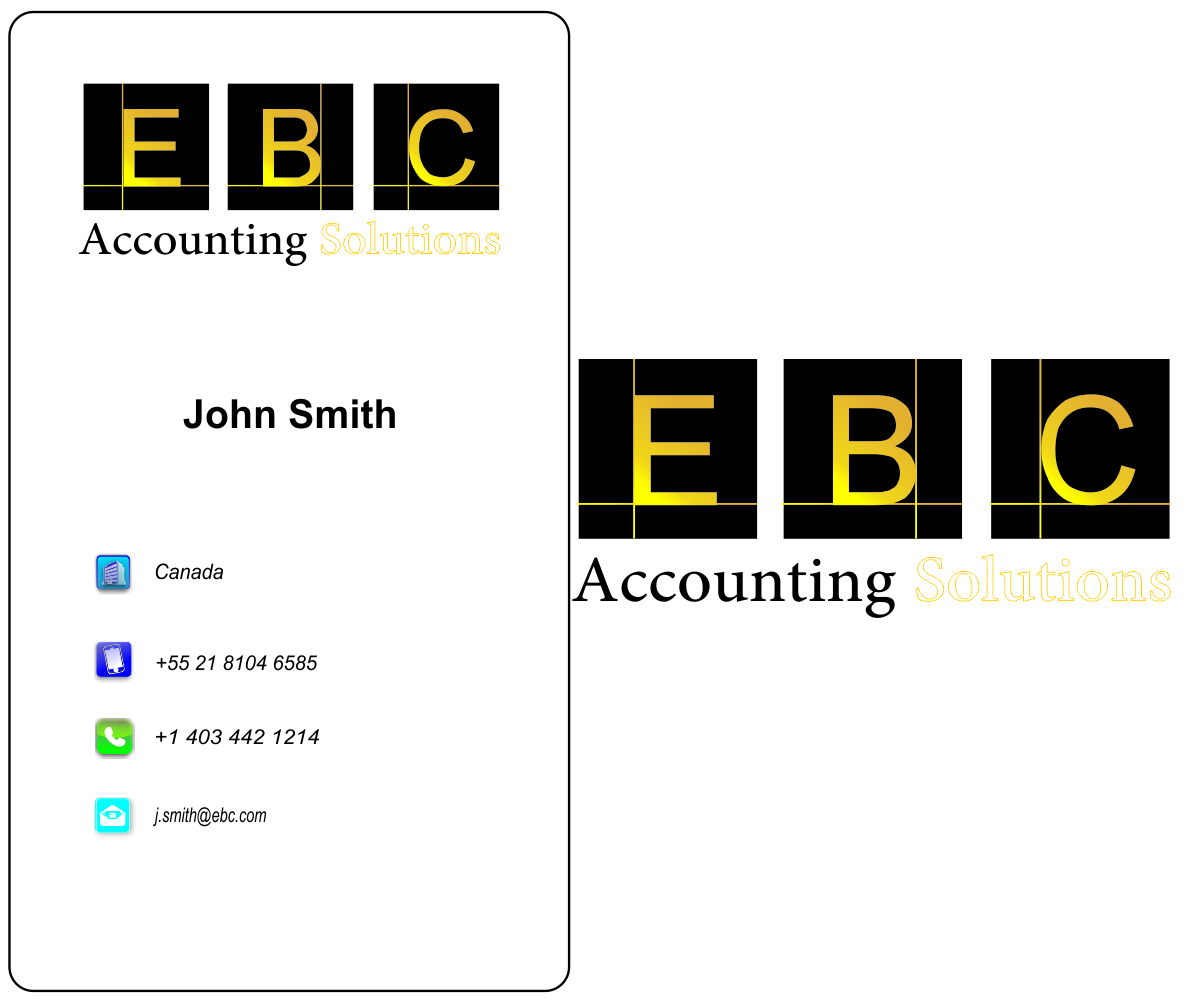 Logo Design by franz - Entry No. 178 in the Logo Design Contest New Logo Design for EBC Accounting Solutions.