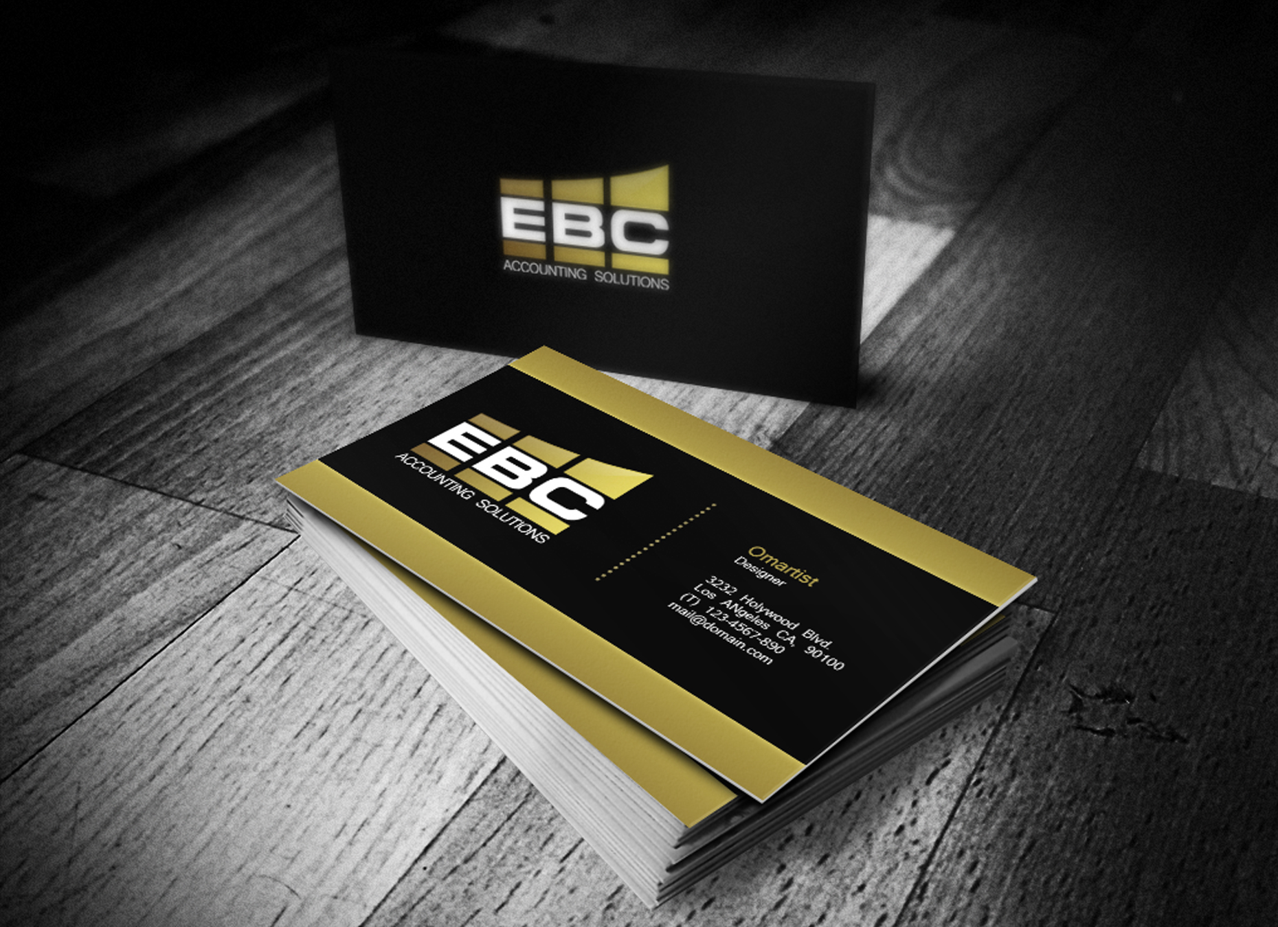 Logo Design by omARTist - Entry No. 184 in the Logo Design Contest New Logo Design for EBC Accounting Solutions.