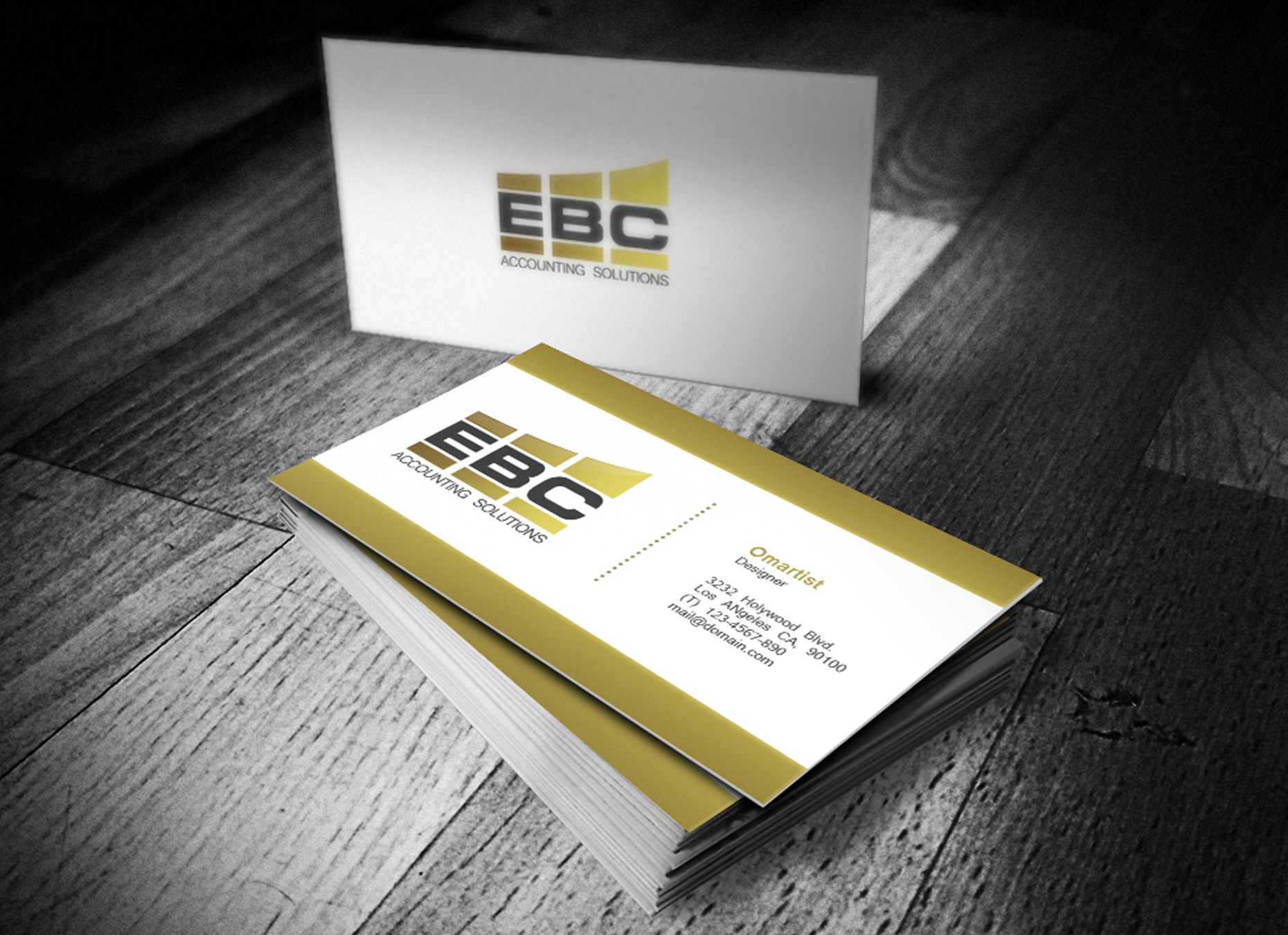 Logo Design by omARTist - Entry No. 185 in the Logo Design Contest New Logo Design for EBC Accounting Solutions.