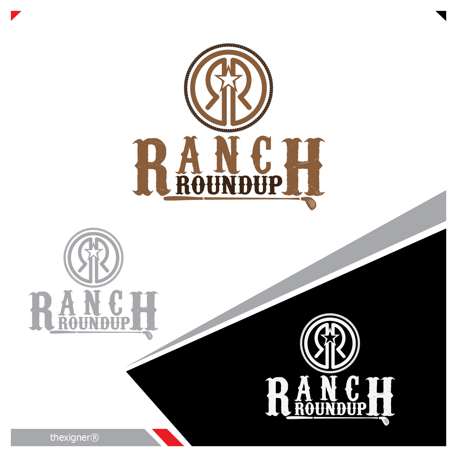 Logo Design by lagalag - Entry No. 19 in the Logo Design Contest Captivating Logo Design for Ranch Roundup.