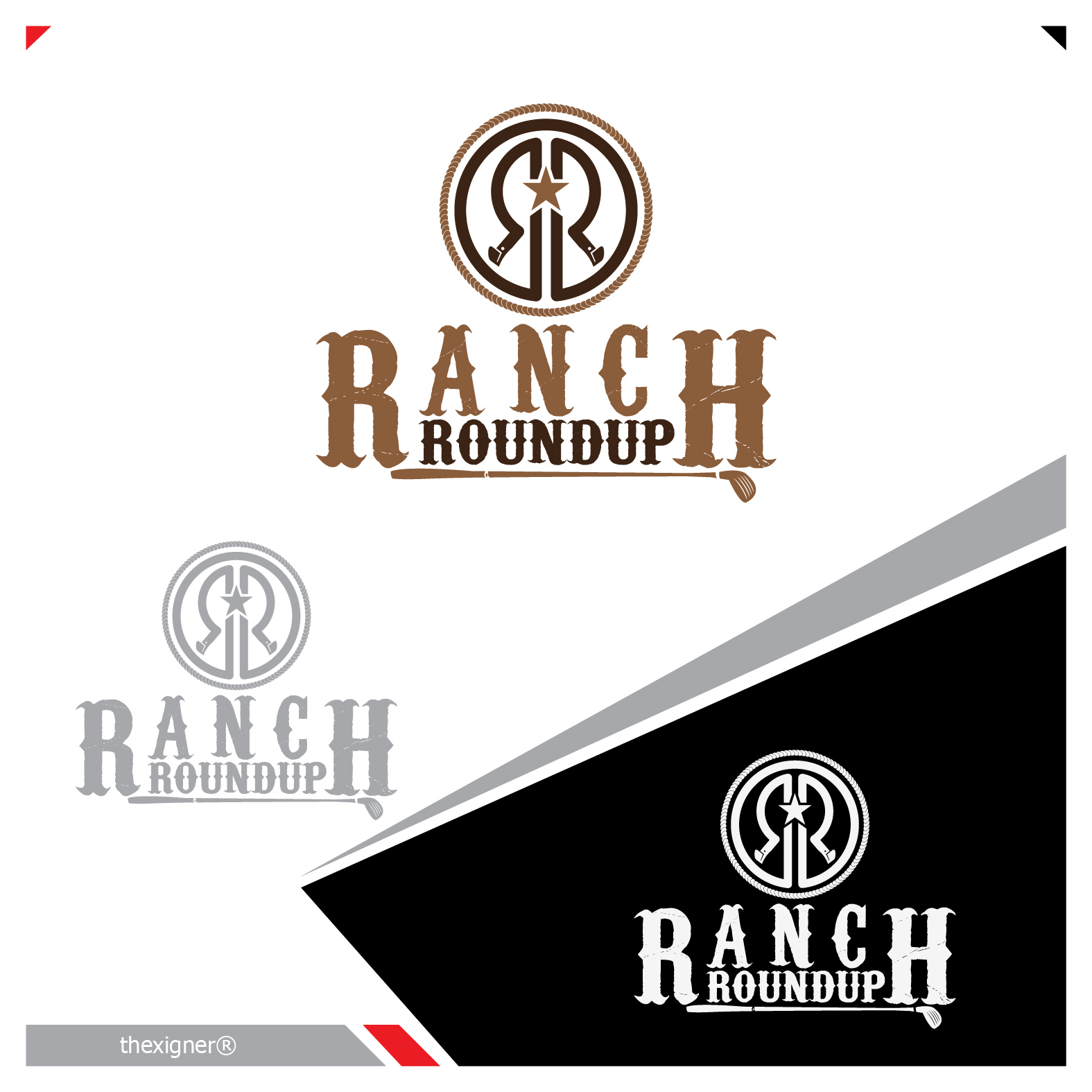 Logo Design by lagalag - Entry No. 21 in the Logo Design Contest Captivating Logo Design for Ranch Roundup.