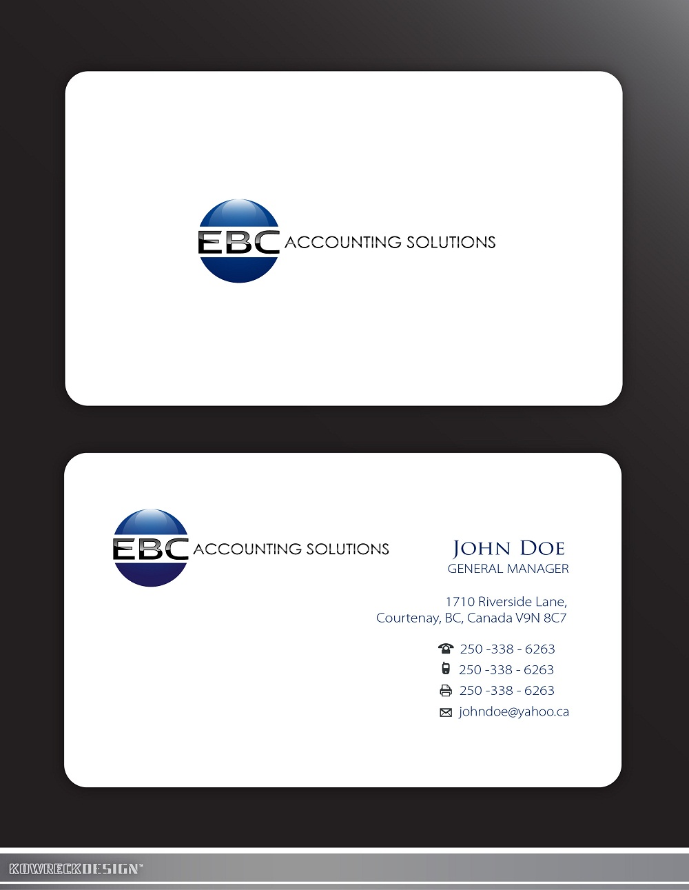 Logo Design by kowreck - Entry No. 200 in the Logo Design Contest New Logo Design for EBC Accounting Solutions.