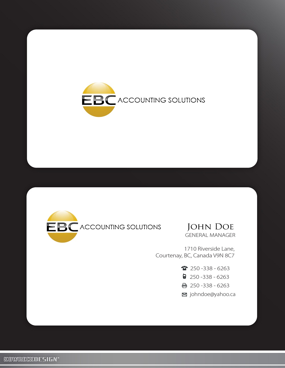 Logo Design by kowreck - Entry No. 201 in the Logo Design Contest New Logo Design for EBC Accounting Solutions.