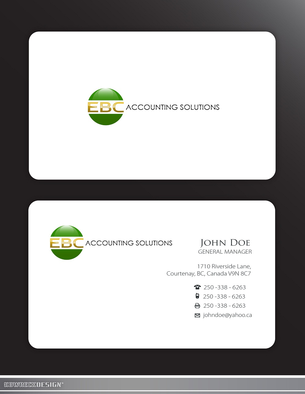Logo Design by kowreck - Entry No. 202 in the Logo Design Contest New Logo Design for EBC Accounting Solutions.