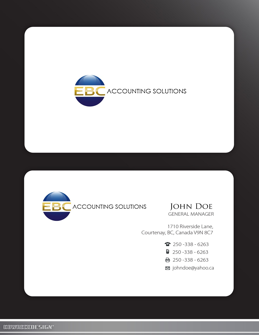 Logo Design by kowreck - Entry No. 203 in the Logo Design Contest New Logo Design for EBC Accounting Solutions.