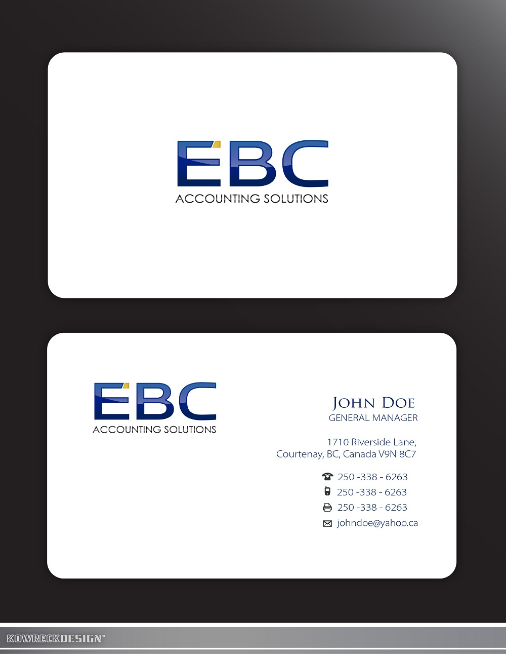 Logo Design by kowreck - Entry No. 204 in the Logo Design Contest New Logo Design for EBC Accounting Solutions.