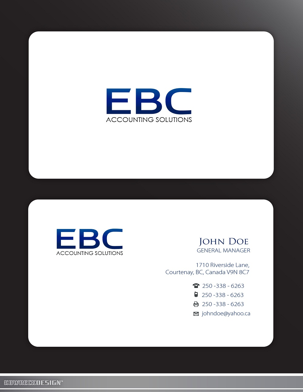 Logo Design by kowreck - Entry No. 205 in the Logo Design Contest New Logo Design for EBC Accounting Solutions.