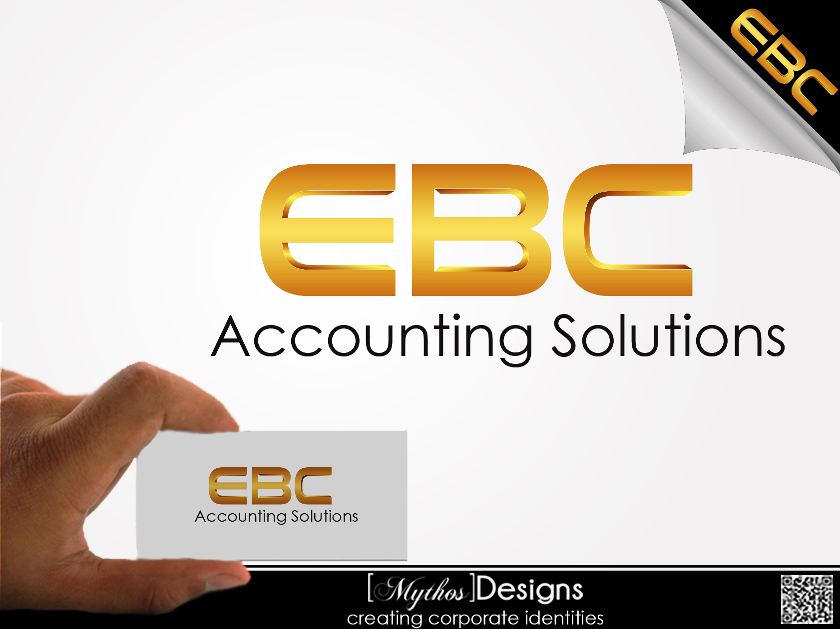 Logo Design by Mythos Designs - Entry No. 207 in the Logo Design Contest New Logo Design for EBC Accounting Solutions.