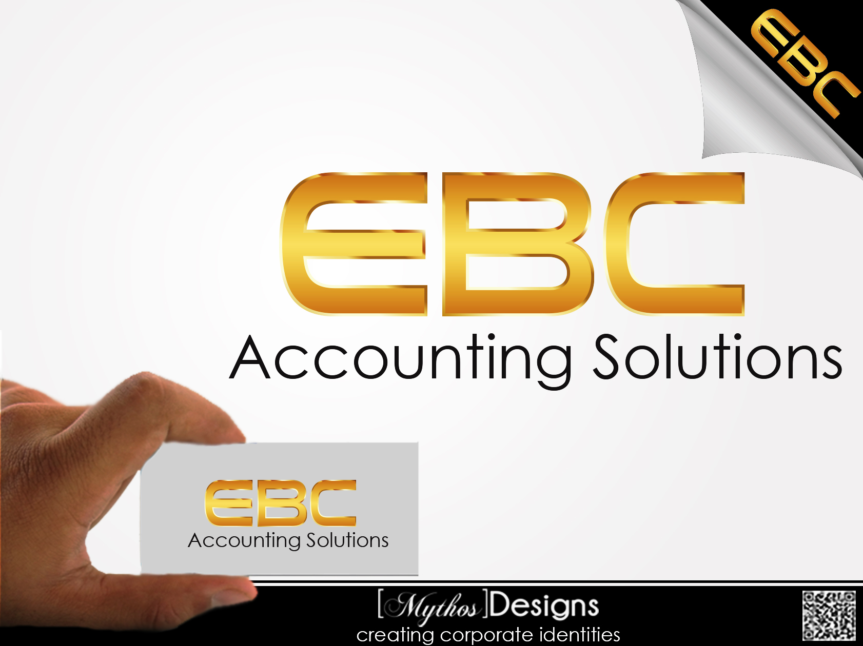 Logo Design by Mythos Designs - Entry No. 208 in the Logo Design Contest New Logo Design for EBC Accounting Solutions.