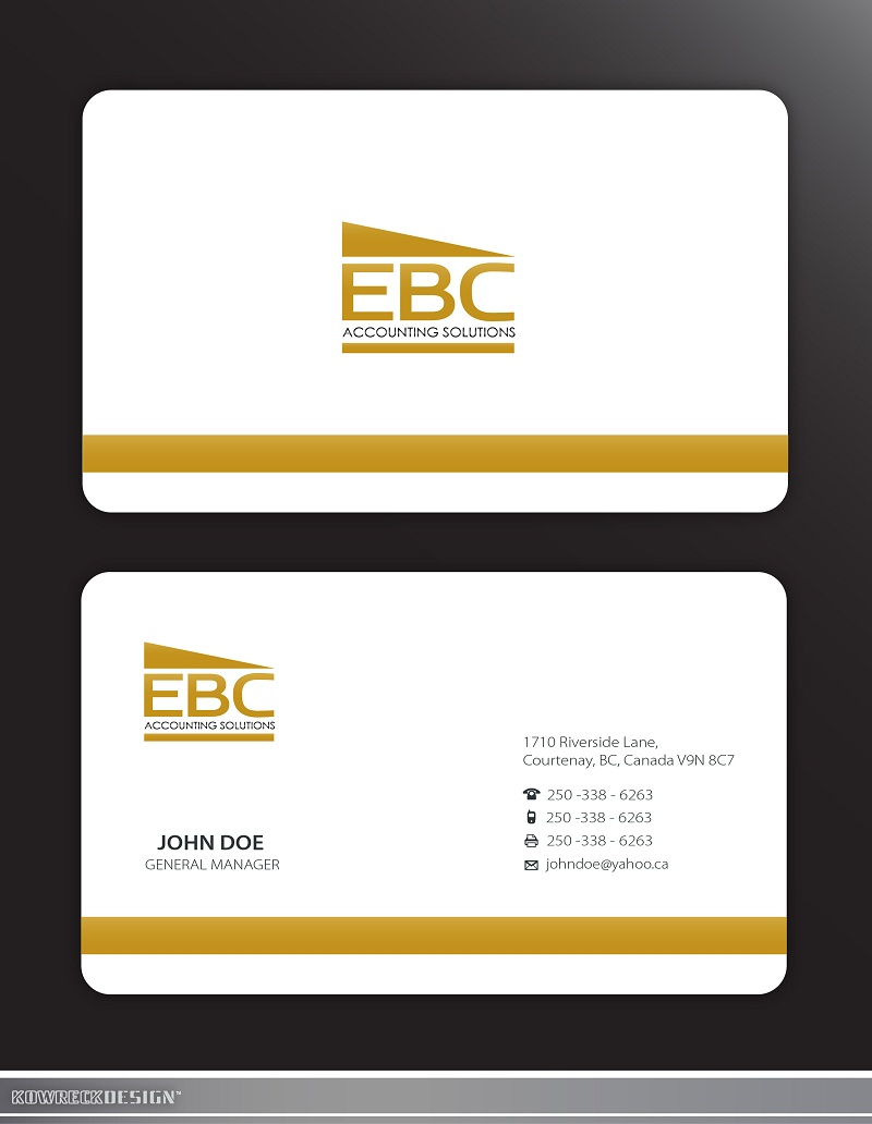 Logo Design by kowreck - Entry No. 209 in the Logo Design Contest New Logo Design for EBC Accounting Solutions.