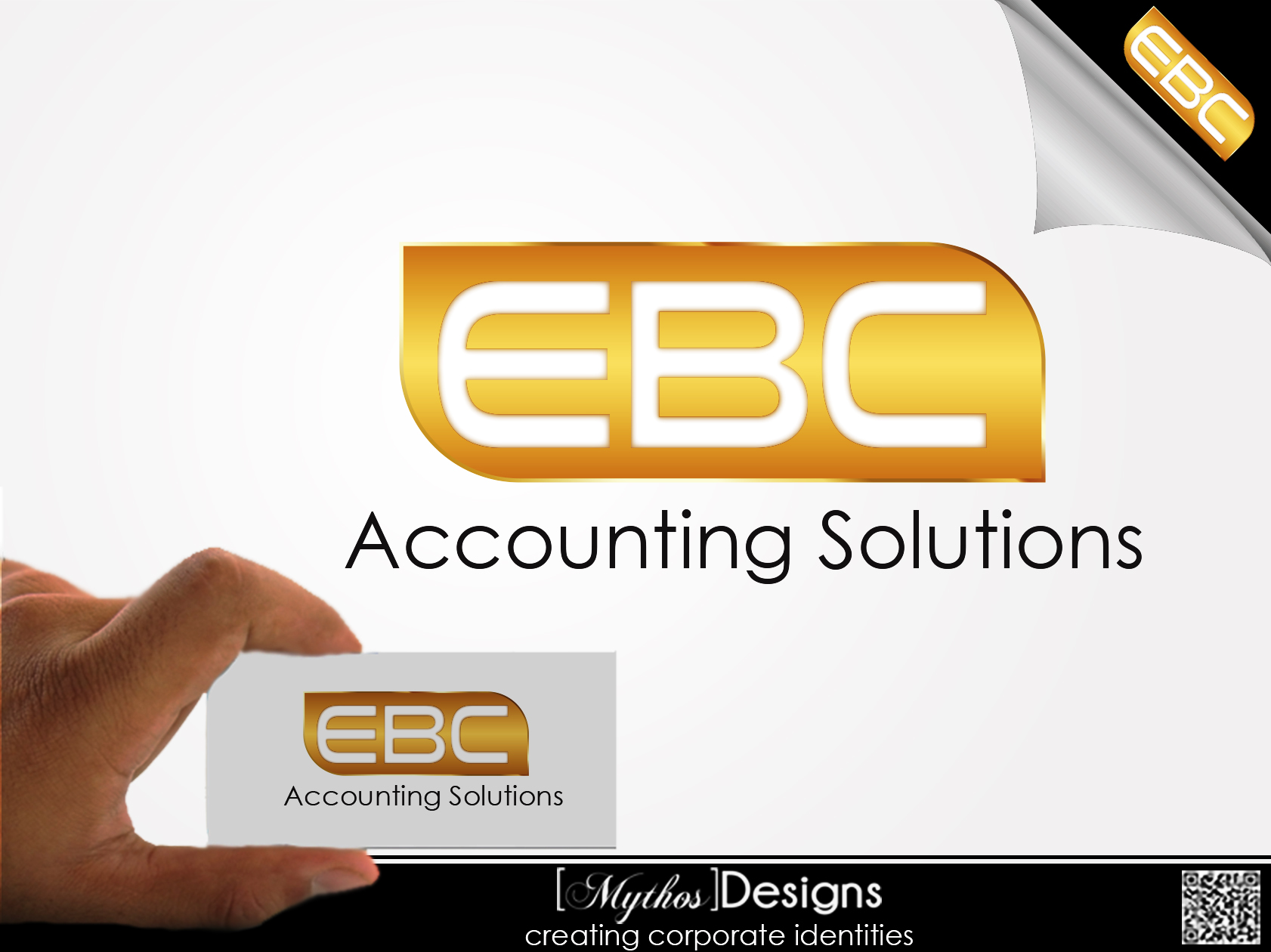 Logo Design by Mythos Designs - Entry No. 210 in the Logo Design Contest New Logo Design for EBC Accounting Solutions.