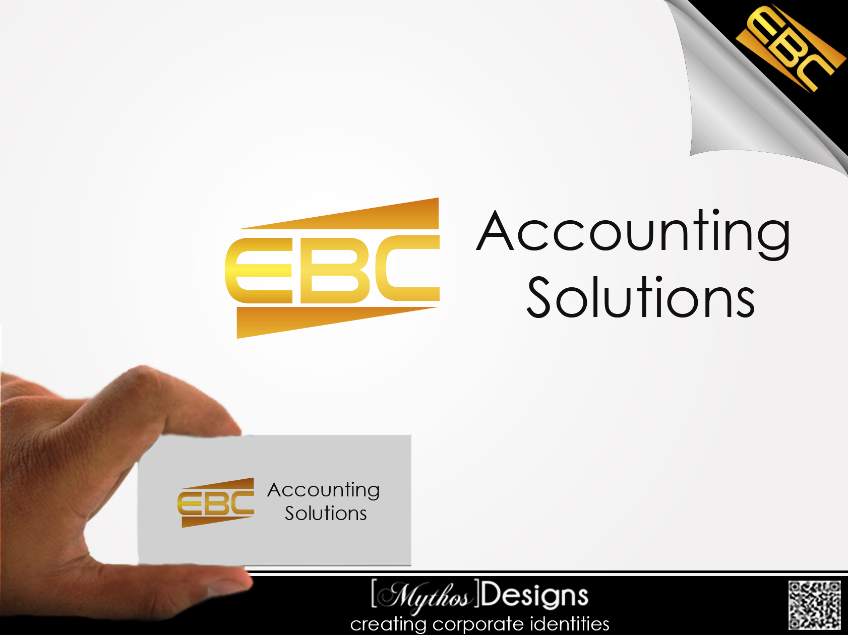 Logo Design by Mythos Designs - Entry No. 211 in the Logo Design Contest New Logo Design for EBC Accounting Solutions.