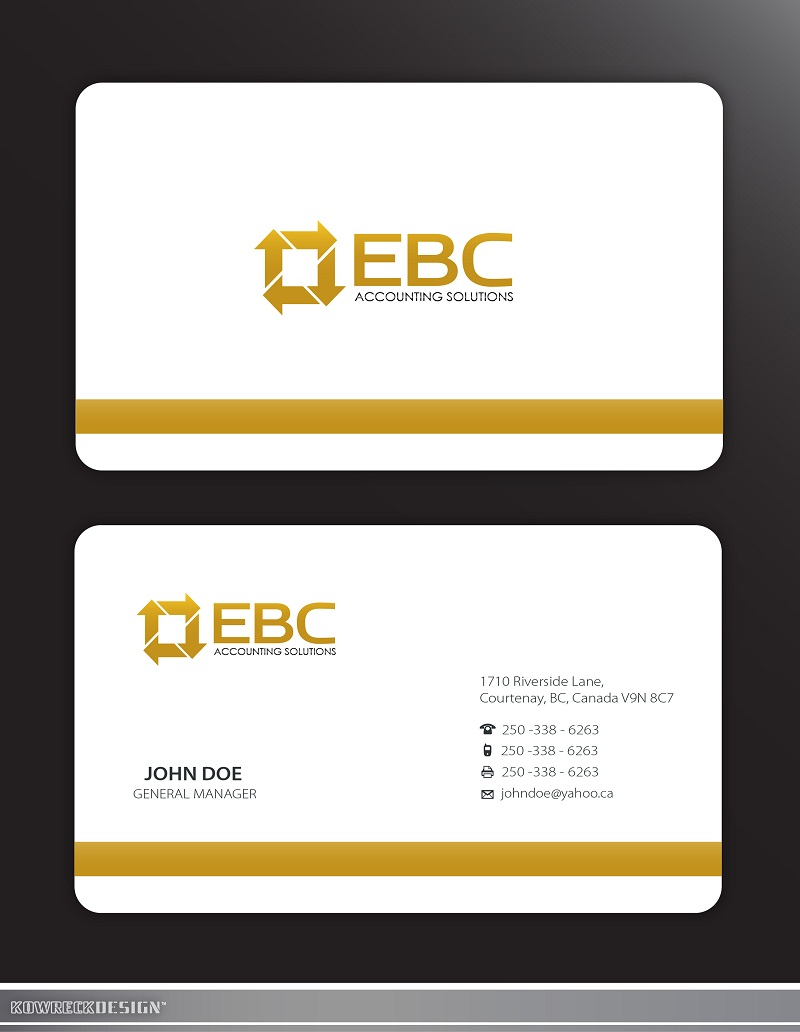 Logo Design by kowreck - Entry No. 212 in the Logo Design Contest New Logo Design for EBC Accounting Solutions.