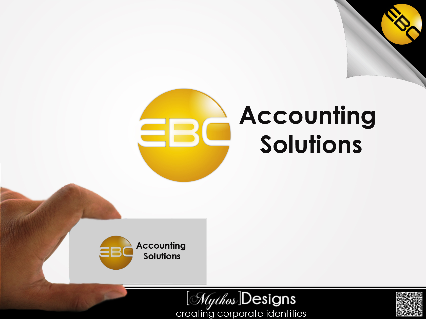 Logo Design by Mythos Designs - Entry No. 213 in the Logo Design Contest New Logo Design for EBC Accounting Solutions.