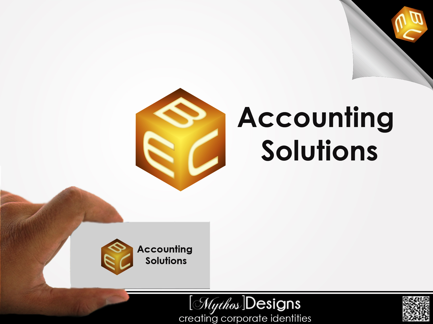 Logo Design by Mythos Designs - Entry No. 215 in the Logo Design Contest New Logo Design for EBC Accounting Solutions.