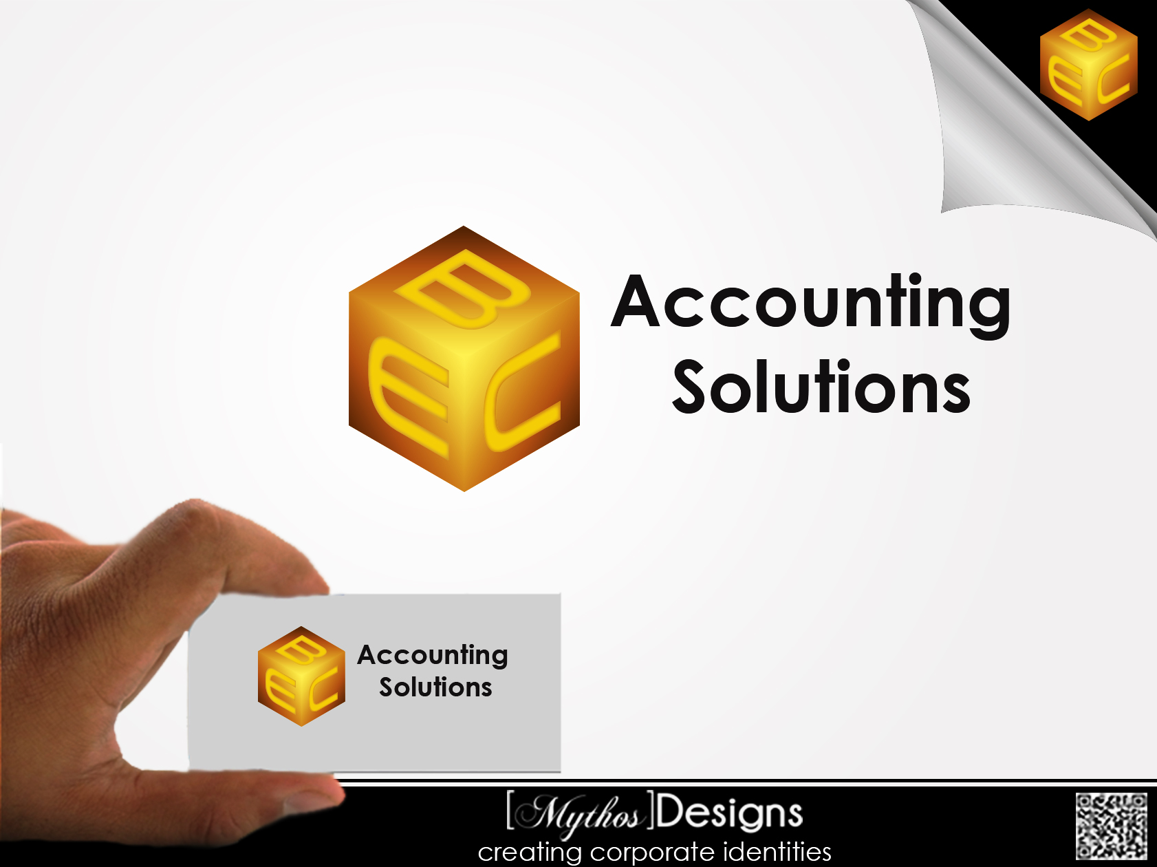 Logo Design by Mythos Designs - Entry No. 216 in the Logo Design Contest New Logo Design for EBC Accounting Solutions.