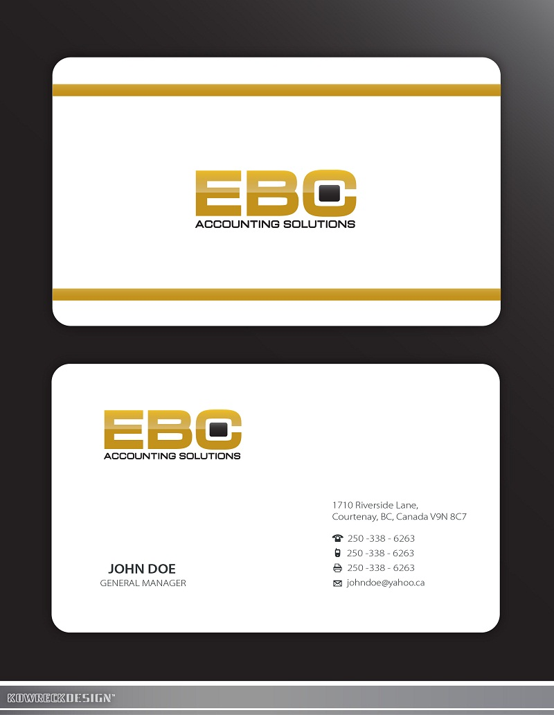 Logo Design by kowreck - Entry No. 219 in the Logo Design Contest New Logo Design for EBC Accounting Solutions.