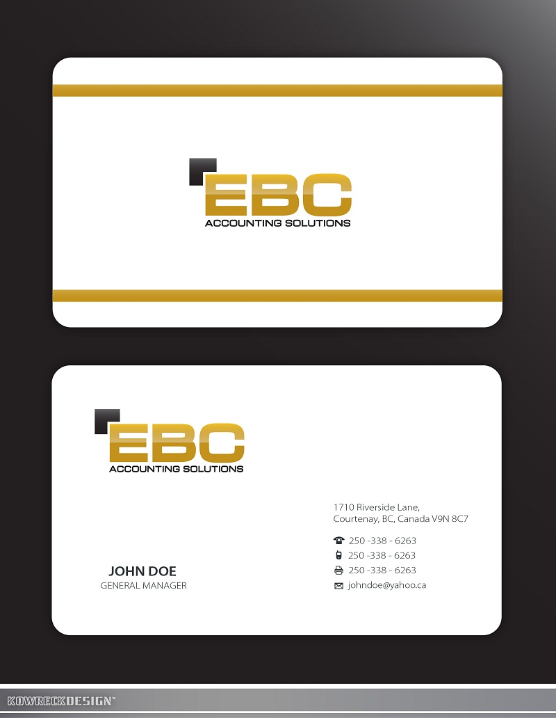 Logo Design by kowreck - Entry No. 222 in the Logo Design Contest New Logo Design for EBC Accounting Solutions.