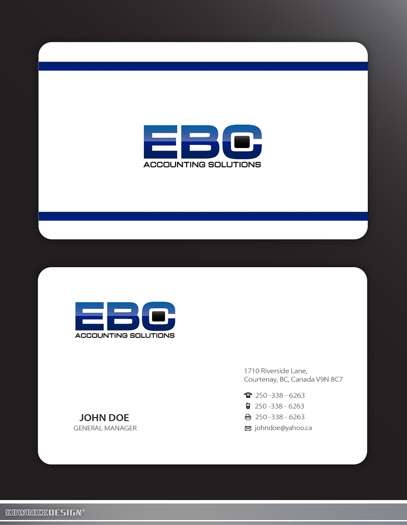 Logo Design by kowreck - Entry No. 226 in the Logo Design Contest New Logo Design for EBC Accounting Solutions.