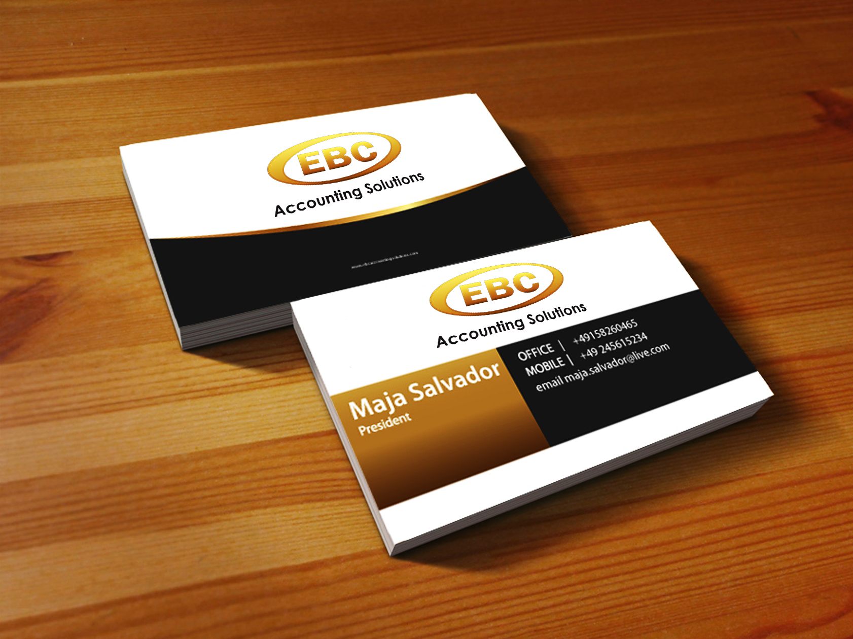 Logo Design by Mythos Designs - Entry No. 230 in the Logo Design Contest New Logo Design for EBC Accounting Solutions.