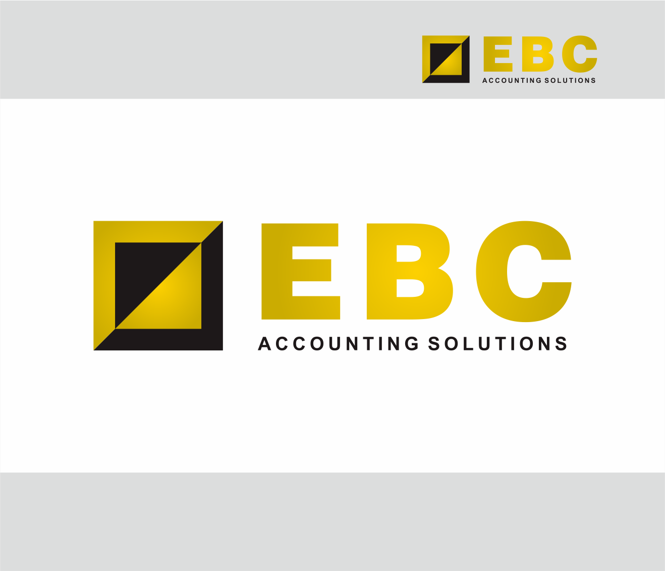 Logo Design by Armada Jamaluddin - Entry No. 232 in the Logo Design Contest New Logo Design for EBC Accounting Solutions.