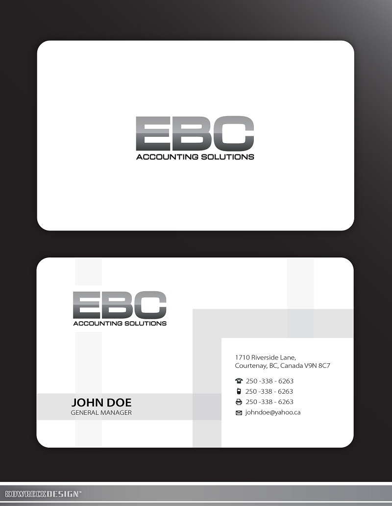Logo Design by kowreck - Entry No. 233 in the Logo Design Contest New Logo Design for EBC Accounting Solutions.