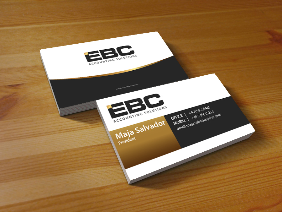 Logo Design by jpbituin - Entry No. 235 in the Logo Design Contest New Logo Design for EBC Accounting Solutions.
