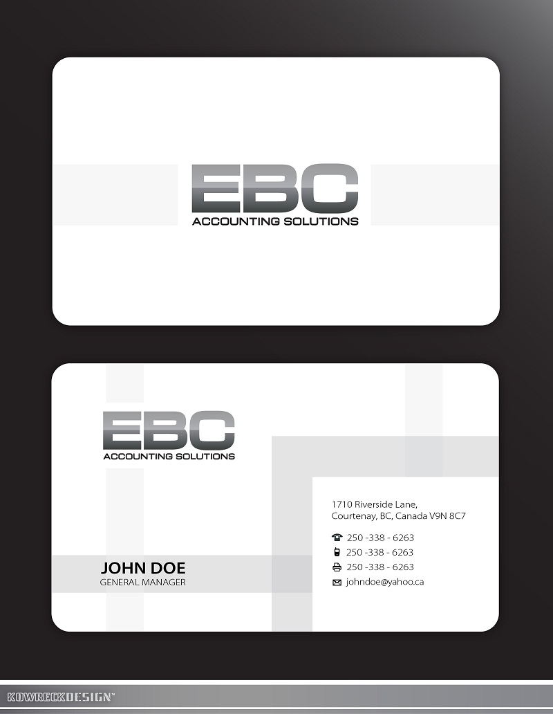 Logo Design by kowreck - Entry No. 237 in the Logo Design Contest New Logo Design for EBC Accounting Solutions.