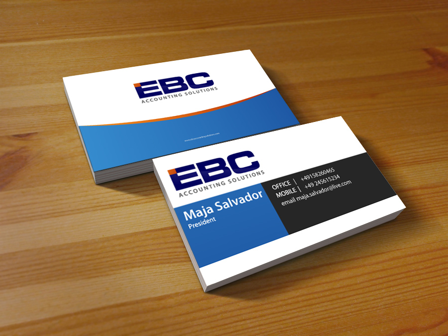 Logo Design by jpbituin - Entry No. 238 in the Logo Design Contest New Logo Design for EBC Accounting Solutions.