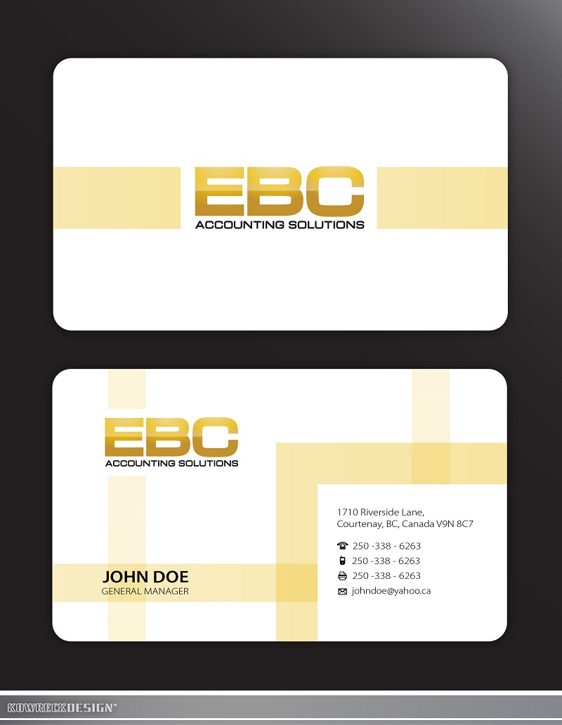 Logo Design by kowreck - Entry No. 239 in the Logo Design Contest New Logo Design for EBC Accounting Solutions.