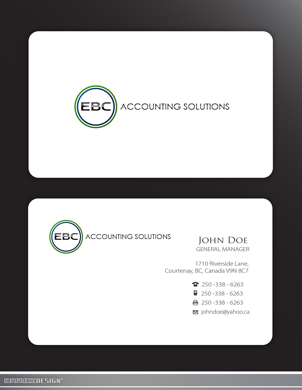 Logo Design by kowreck - Entry No. 240 in the Logo Design Contest New Logo Design for EBC Accounting Solutions.