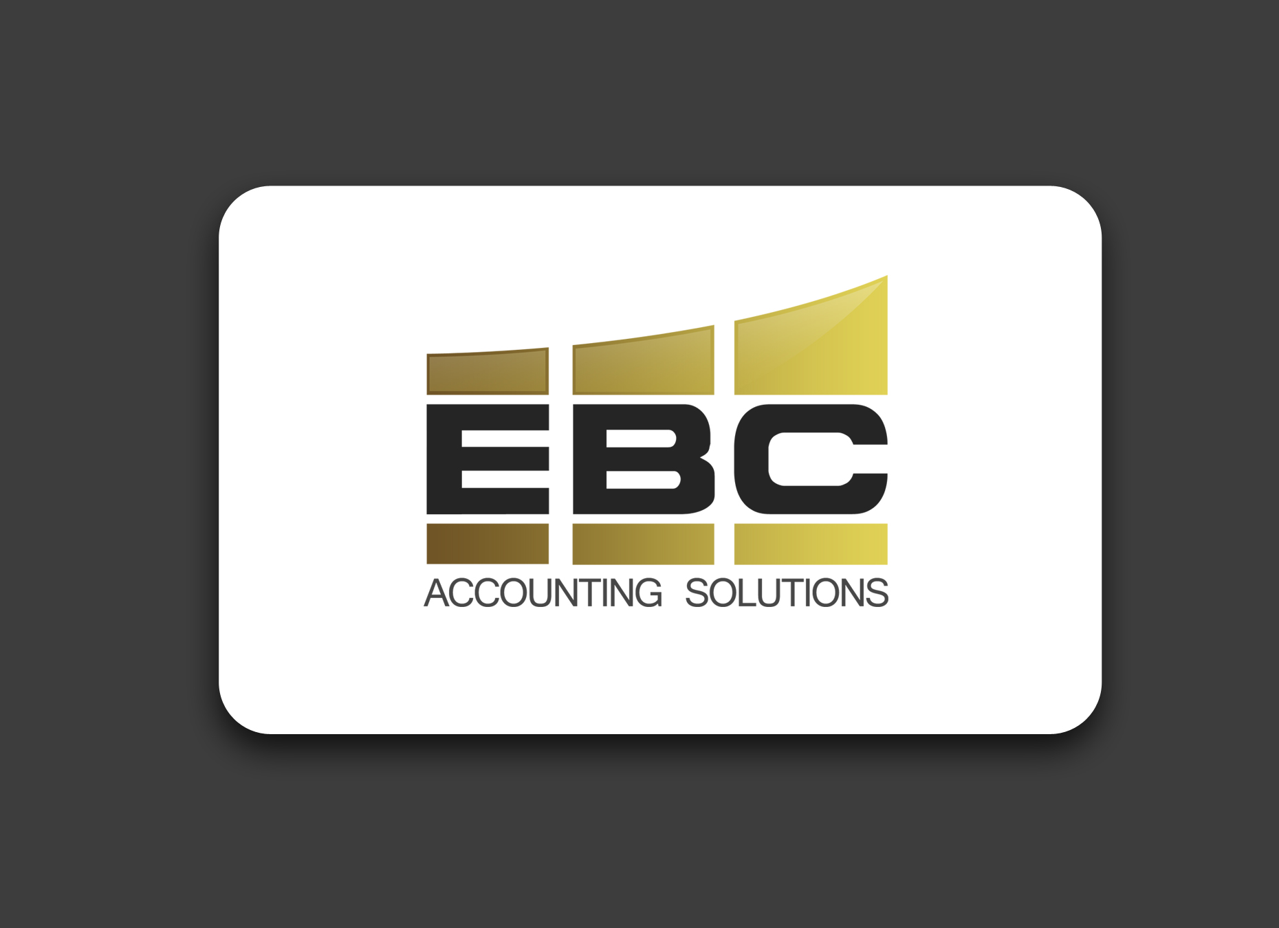 Logo Design by omARTist - Entry No. 243 in the Logo Design Contest New Logo Design for EBC Accounting Solutions.