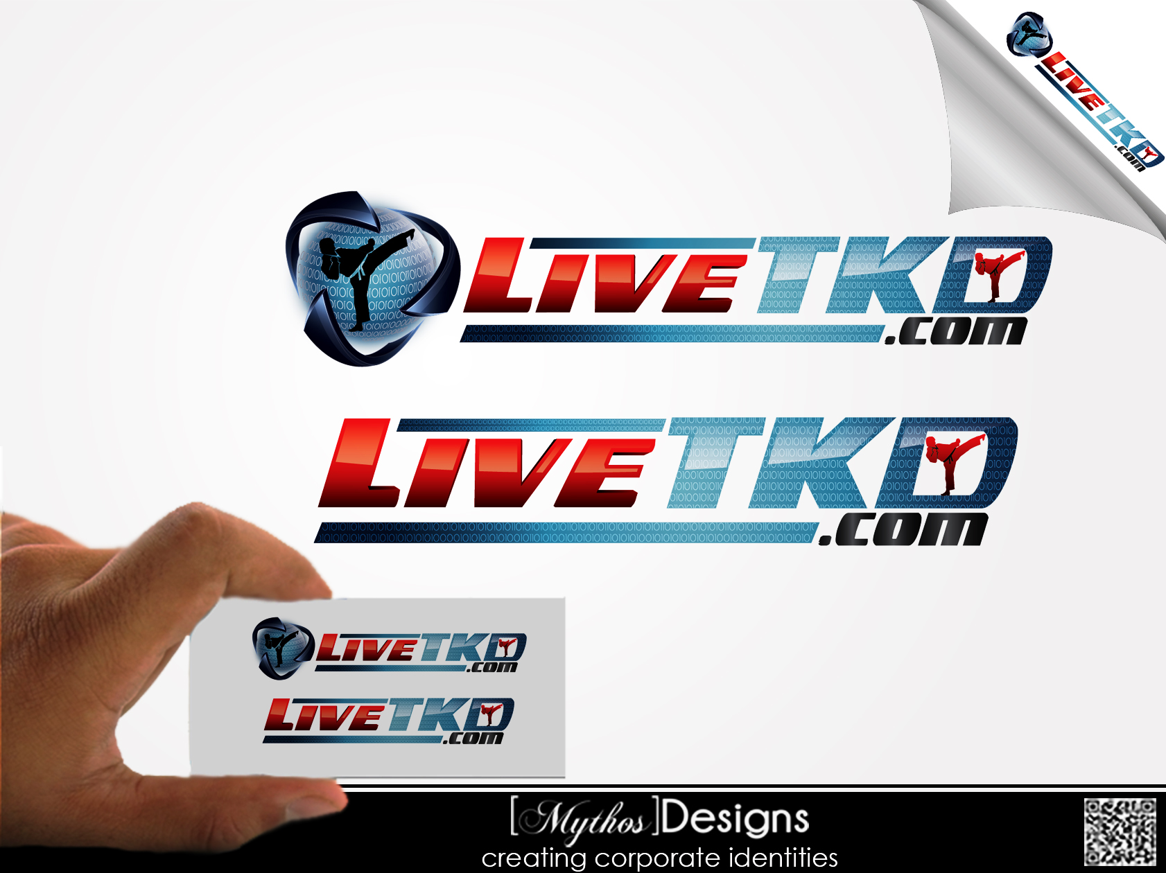 Logo Design by Mythos Designs - Entry No. 152 in the Logo Design Contest New Logo Design for LiveTKD.com.