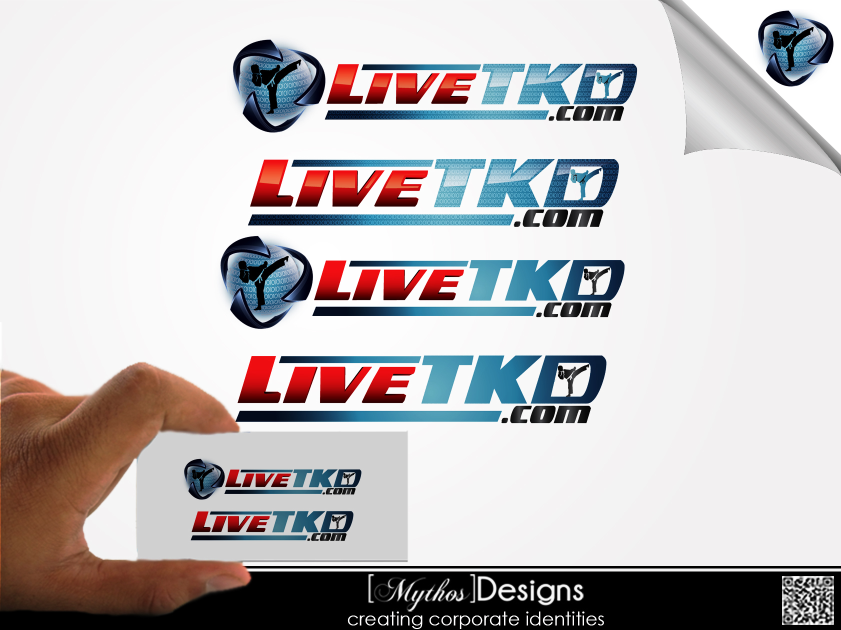 Logo Design by Mythos Designs - Entry No. 153 in the Logo Design Contest New Logo Design for LiveTKD.com.