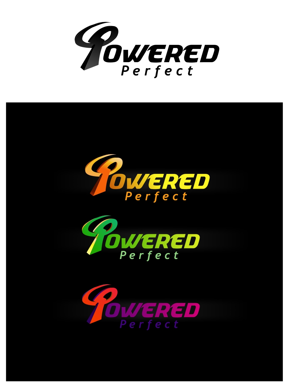 Logo Design by Private User - Entry No. 18 in the Logo Design Contest Captivating Logo Design for Powered Perfect.