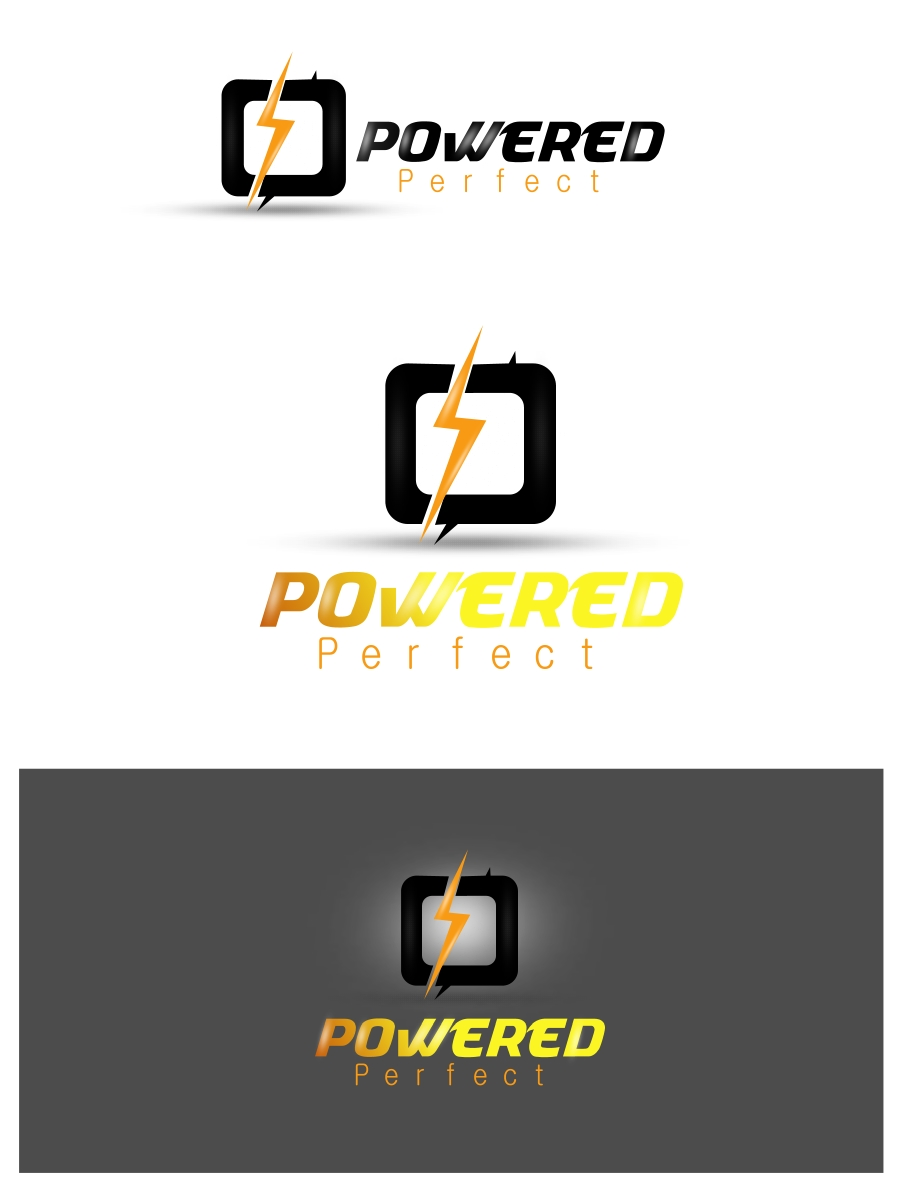 Logo Design by Private User - Entry No. 20 in the Logo Design Contest Captivating Logo Design for Powered Perfect.