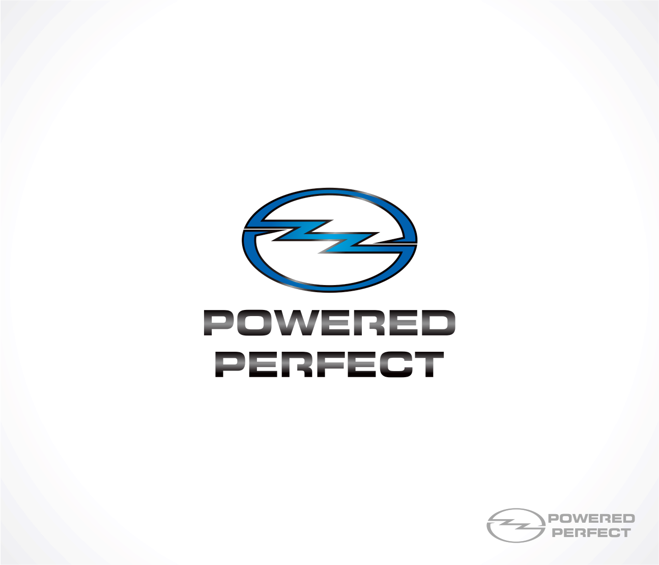 Logo Design by Armada Jamaluddin - Entry No. 24 in the Logo Design Contest Captivating Logo Design for Powered Perfect.