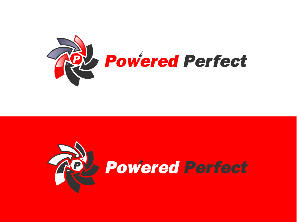 Logo Design by Jagdeep Singh - Entry No. 29 in the Logo Design Contest Captivating Logo Design for Powered Perfect.