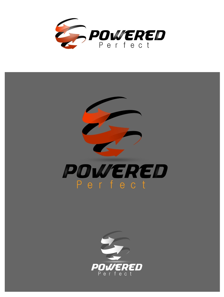 Logo Design by Private User - Entry No. 34 in the Logo Design Contest Captivating Logo Design for Powered Perfect.