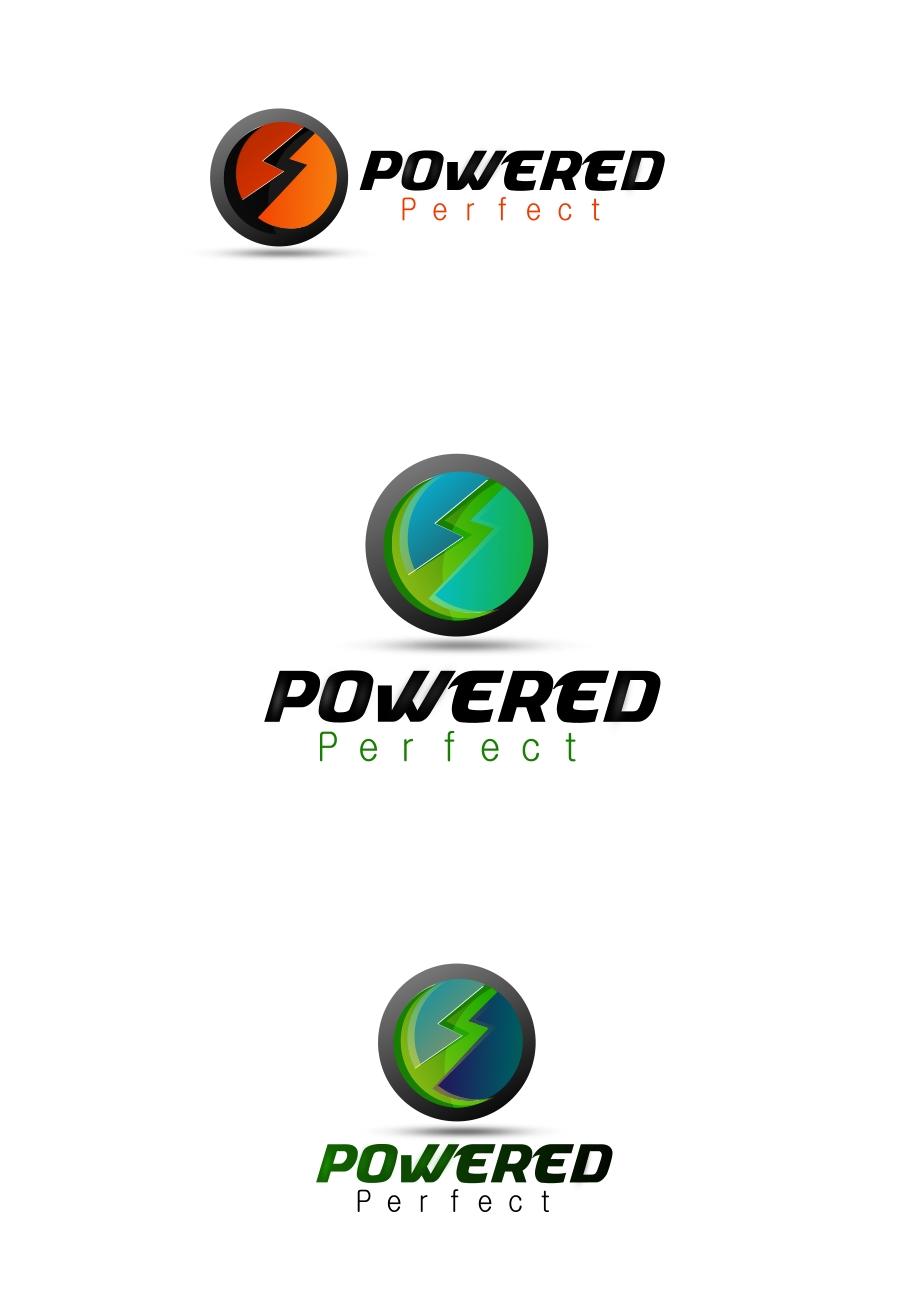 Logo Design by Private User - Entry No. 35 in the Logo Design Contest Captivating Logo Design for Powered Perfect.
