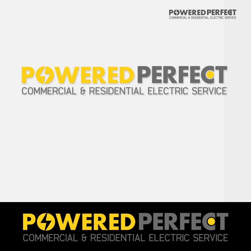Logo Design by Robert Turla - Entry No. 51 in the Logo Design Contest Captivating Logo Design for Powered Perfect.