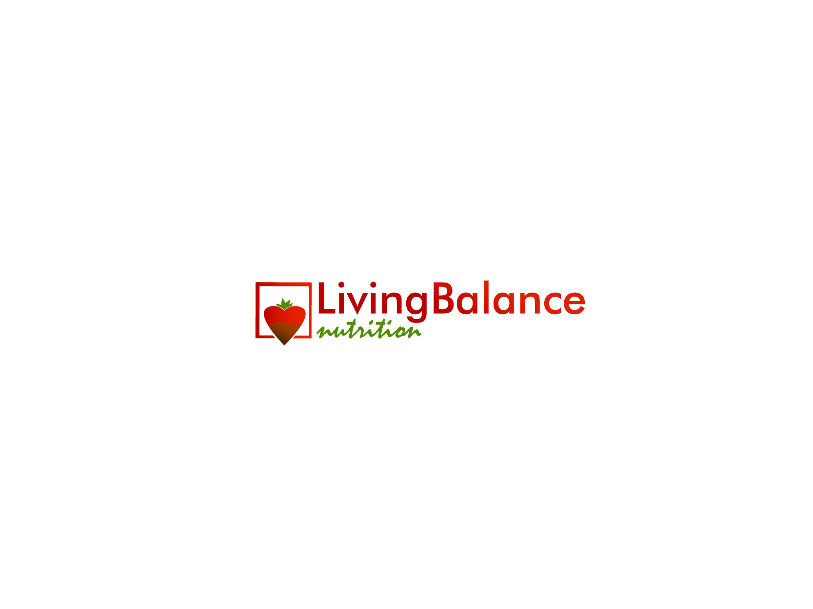 Logo Design by Osi Indra - Entry No. 10 in the Logo Design Contest Unique Logo Design Wanted for Living Balance Nutrition.