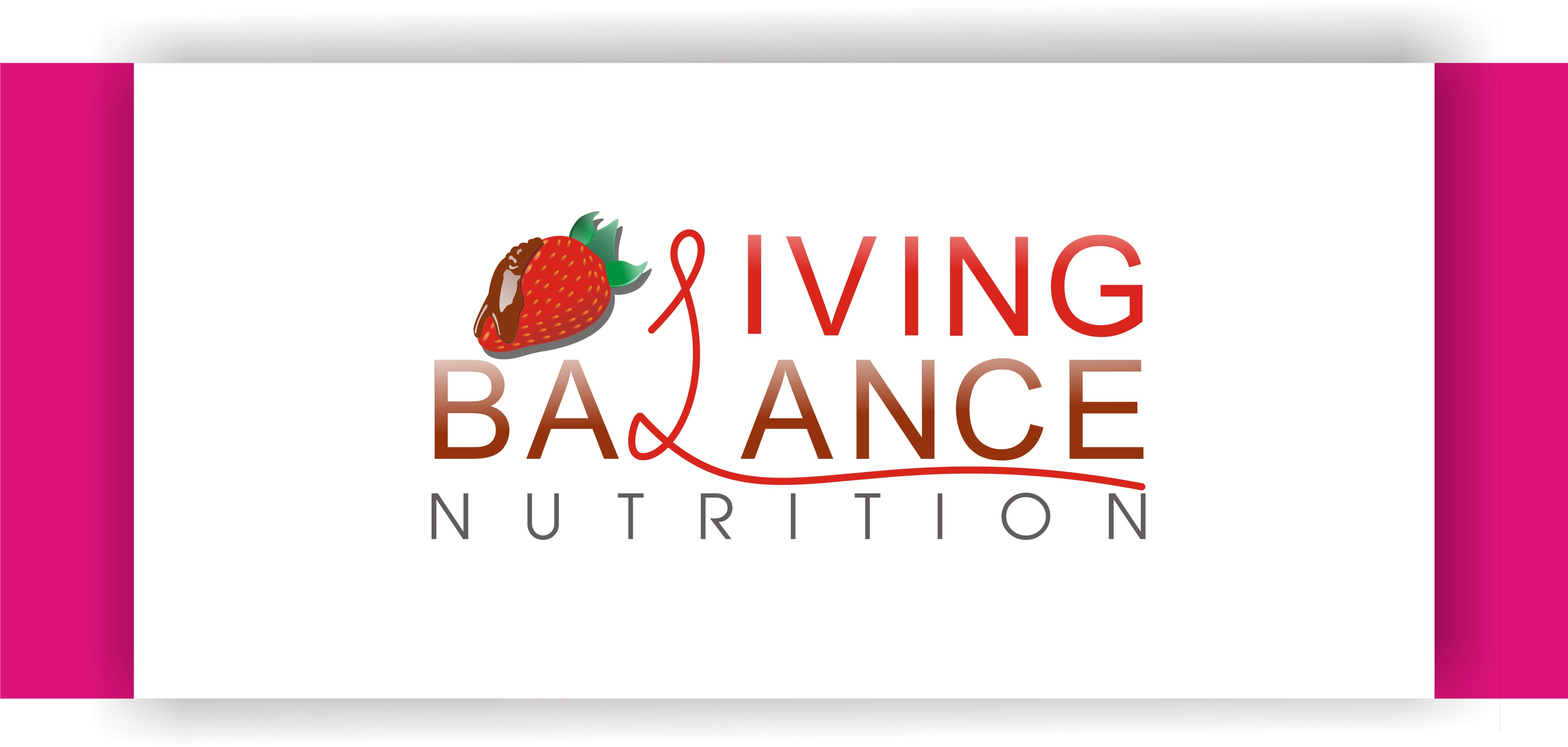 Logo Design by Shailender Kumar - Entry No. 12 in the Logo Design Contest Unique Logo Design Wanted for Living Balance Nutrition.